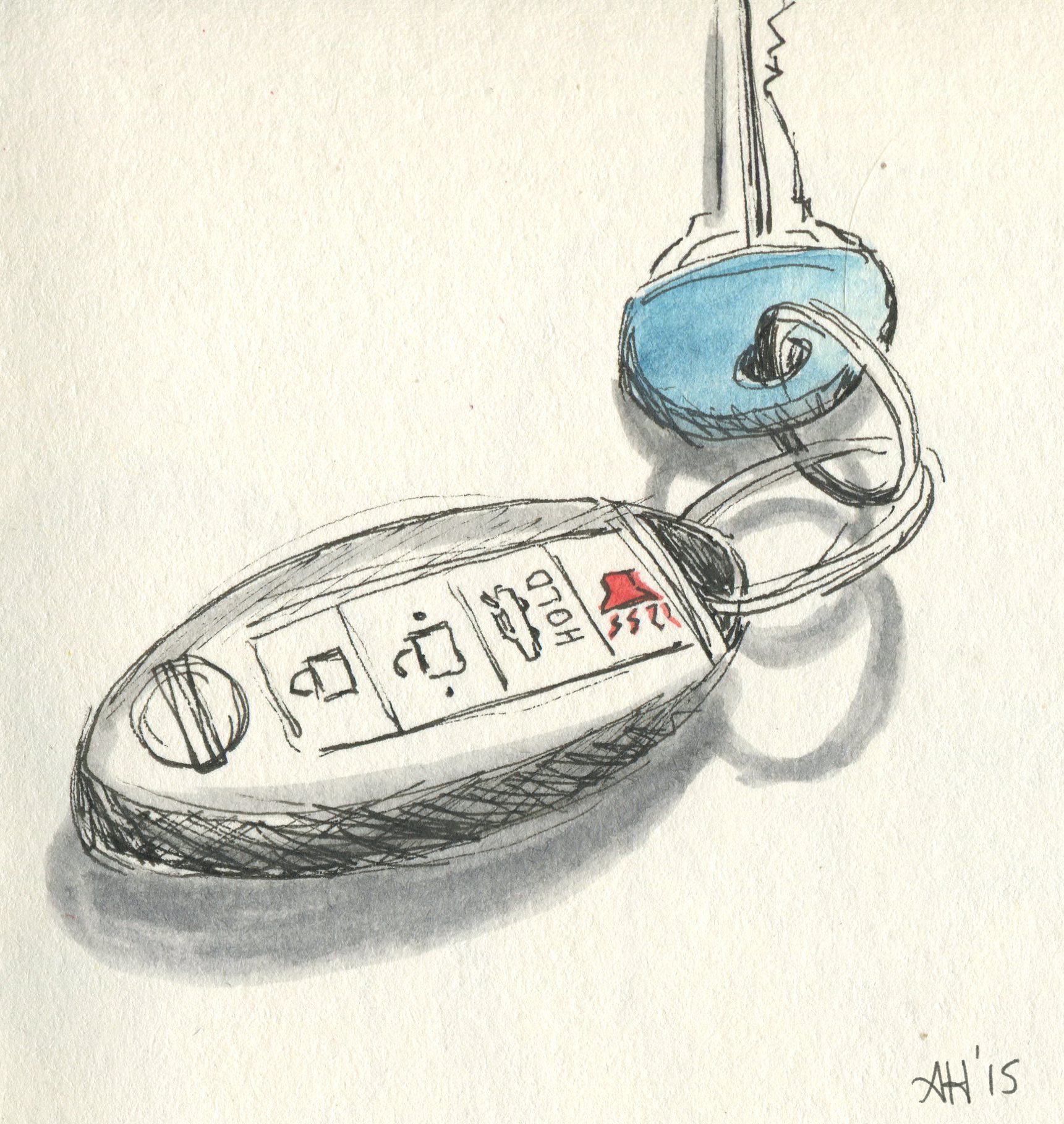 a sketch of car keys by alleanna harris