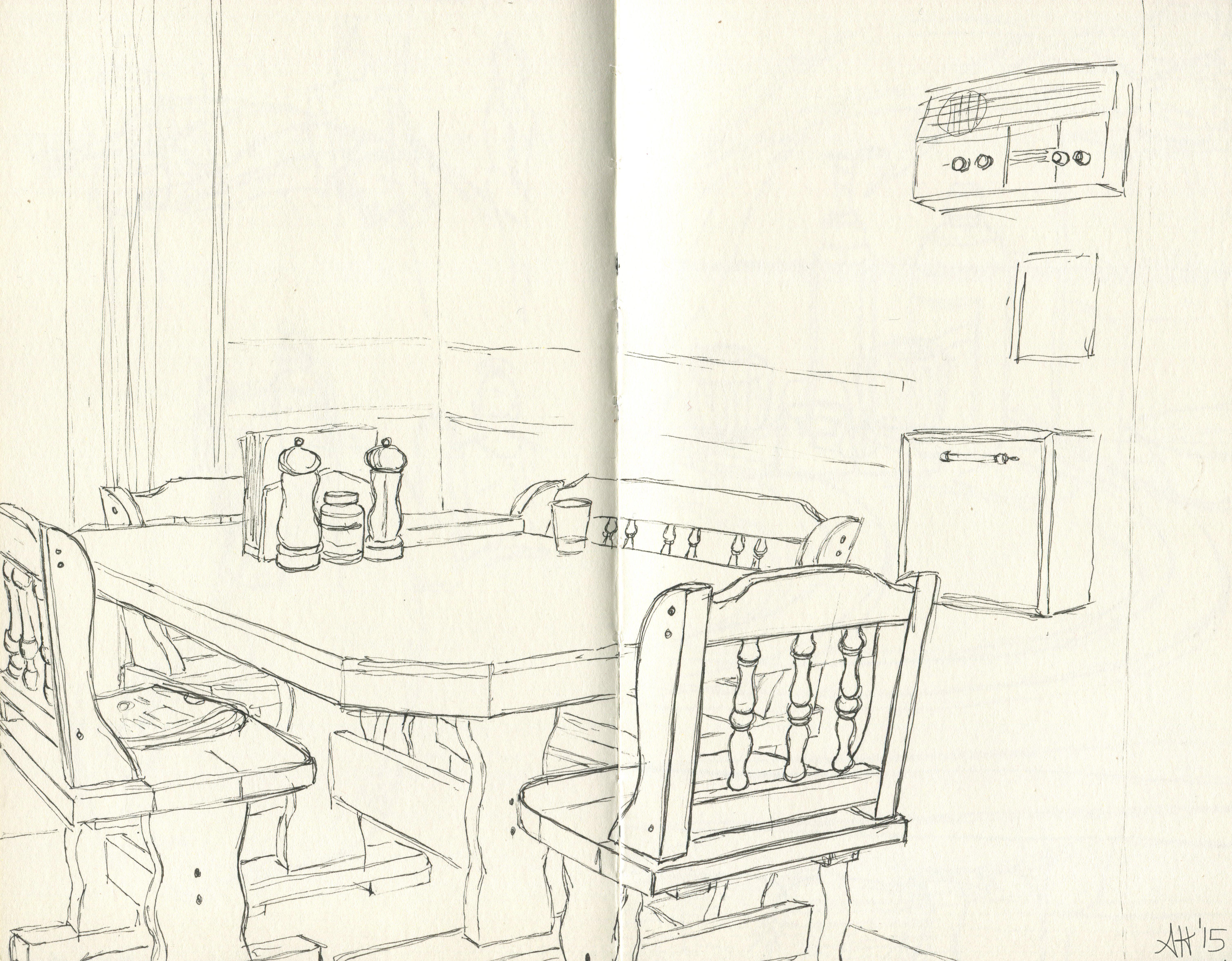 a kitchen set by alleanna harris