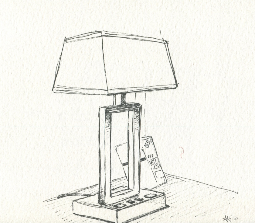 a motel room lamp by alleanna harris