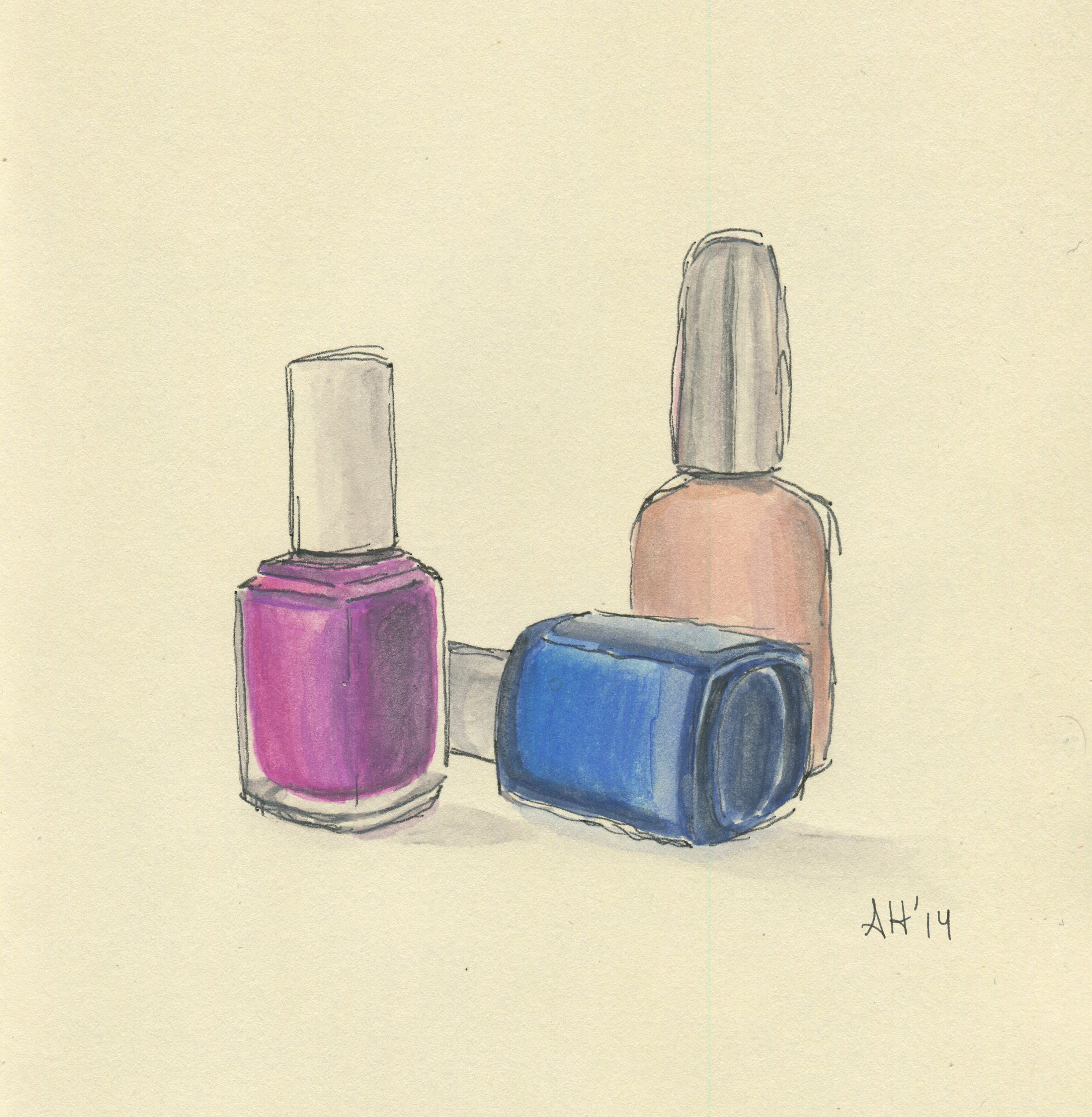 a group of nail polishes by alleanna harris