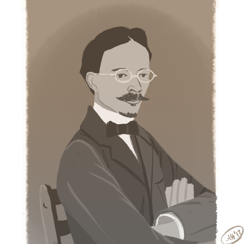 a black history illustration by alleanna harris of the painter henry ossawa tanner