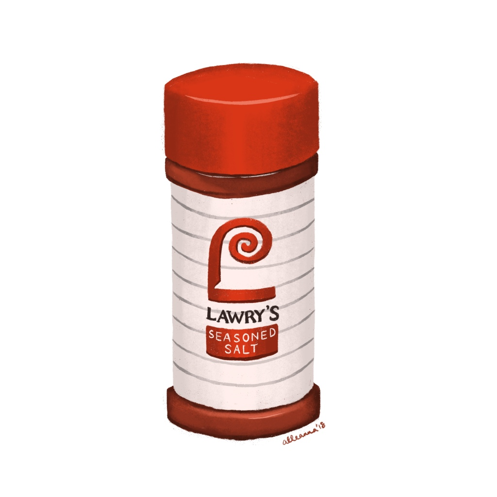 an illustration by alleanna harris of lawry's seasoned salt