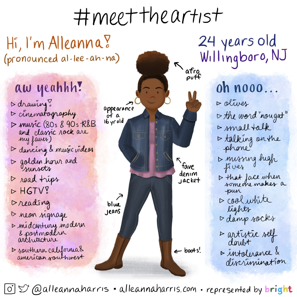 a meet the artist illustration by alleanna harris