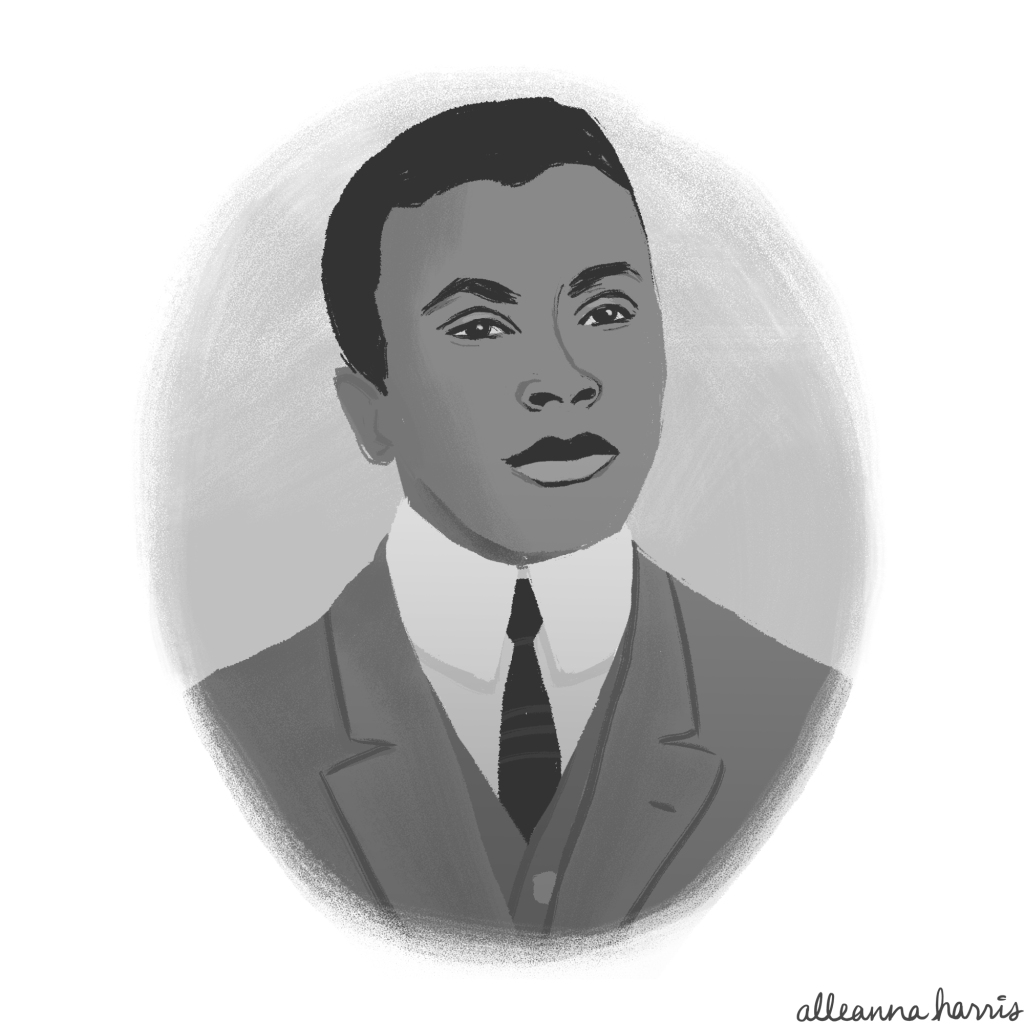 a black history month illustration by alleanna harris of the filmmaker oscar micheaux