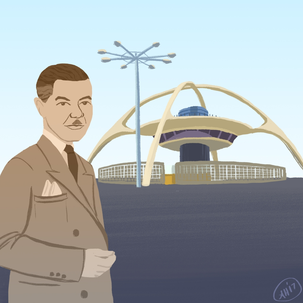 a black history month illustration by alleanna harris of the architect paul r williams